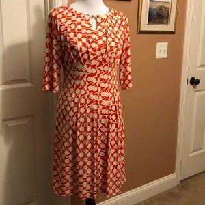 Tahari mod print 3/4 sleeve dress